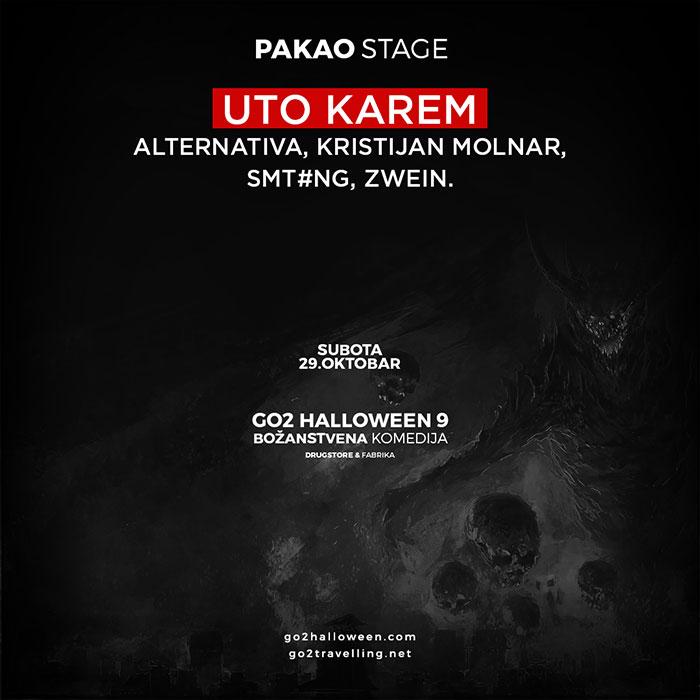 Go2 Halloween maskenbal Pakao stage izvodjaci Uto Karem Drugstore