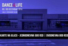 Dance4Life karte na ulazu