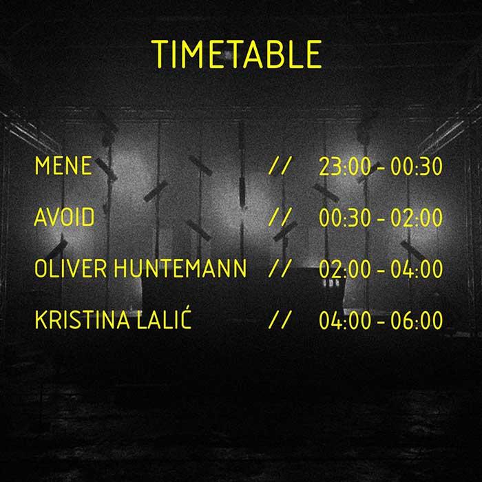 Berlinski Zid festival Oliver Huntermann Kristina Lalic Avoid Mene