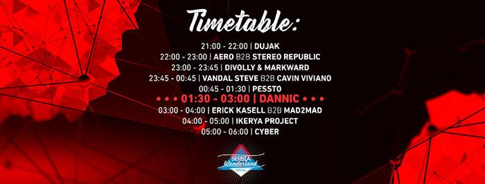 Serbia Wonderland festival 2017 DANNIC Timetable