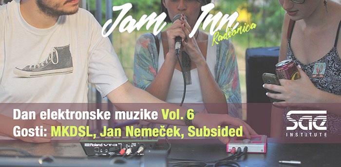 Dan elektronske muzike SAE Institut MKDSL Subsided Jan Nemecek
