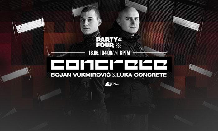 Concrete DJz Party at four KPTM Bojan Vukmirovic Luka Concrete Open Air