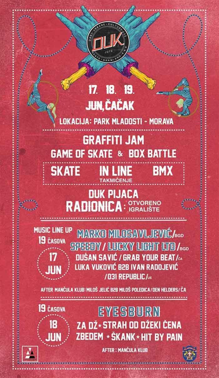 DUK Festival 2016 Cacak program