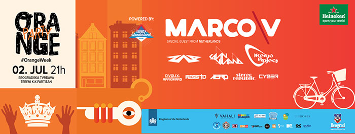 Marco V Zap Me Strobe Pessto Stereo Republic Divolly & Markward Aero Cavin Viviano Erik Iker Cyber Orange Party Orange Week
