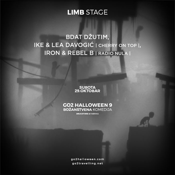 Go2 Halloween maskenbal Limb stage izvodjaci Drugstore