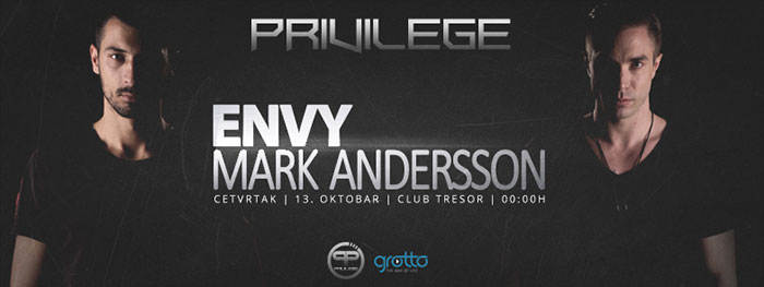 Privilege Party Mark Andersson Envy Trezor Kragujevac