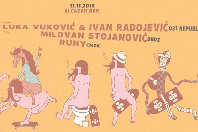 CMOK micro Dot Ivan Radojevic & Luka Vukovic Milovan Stojanovic Runy Alcazar Bar