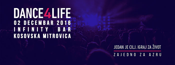 Dance4Life Infinity bar Azri Eleskovic Kosovska Mitrovica