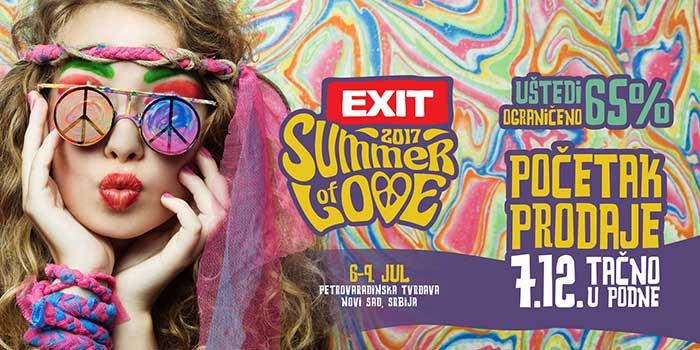 Exit festival karte ulaznice Summer of Love