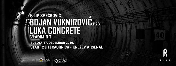RUHR Concrete DJz Bojan Vukmirovic Luka Concrete Vladimir T Filipa Sreckovic Caurnica Knezev arsenal