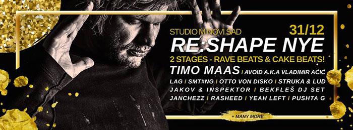 Nova godina Timo Maas Otto Von Disco Lag Smt#ng Vladimir Acic Studio M Novi Sad