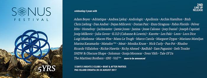 Sonus festival 2017 line up Maceo Plex Matador Solomun Sven Vath