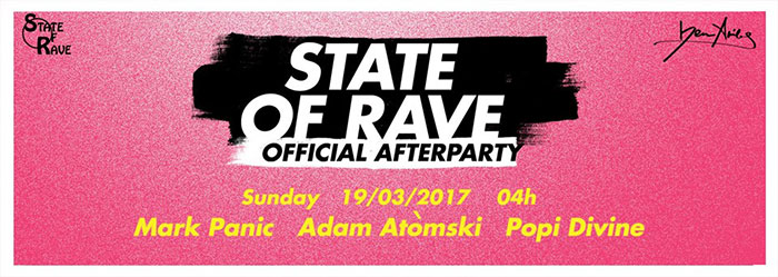 STATE of RAVE After Party Belgrade Afterhours Mark Panic Popi Divine Adam Atomski Vanyano Ben Akiba