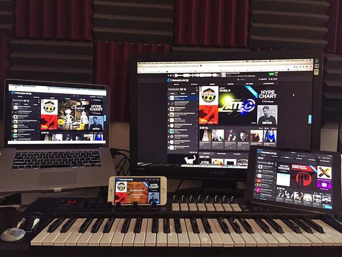 Traxsource web mobile tablet