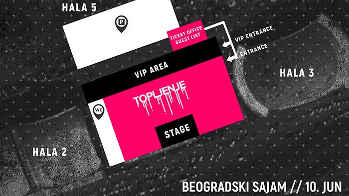 Topljenje festival Beogradski sajam mapa