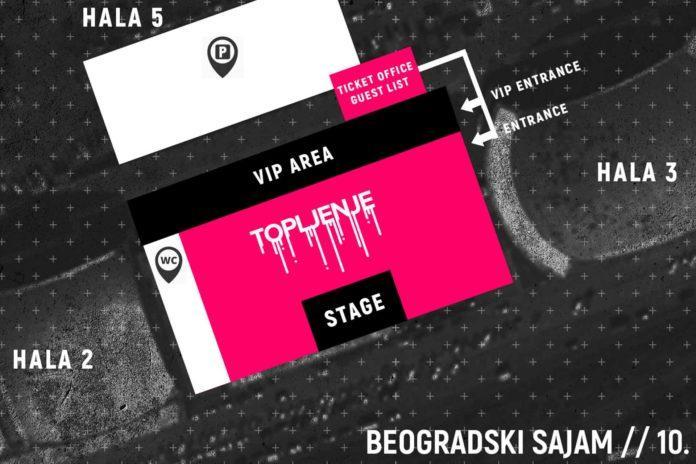 Topljenje festival mapa Beogradski sajam