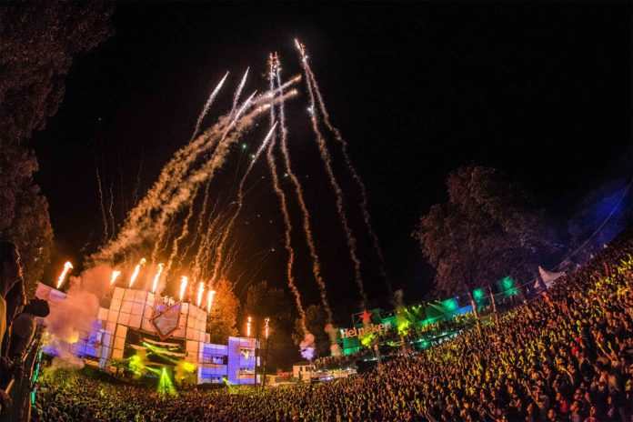 Lovefest Fire Stage Fireworks