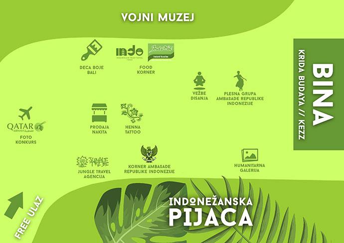 Indonezanska pijaca mapa