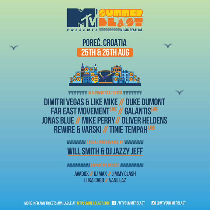 MTV SummerBlast 2017 izvodjaci