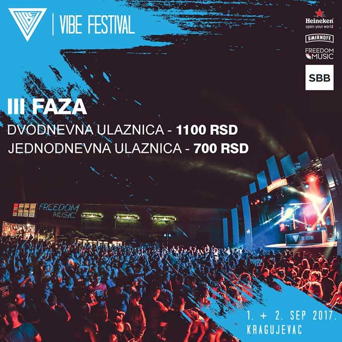 VIBE festival 2017 prodaja karata