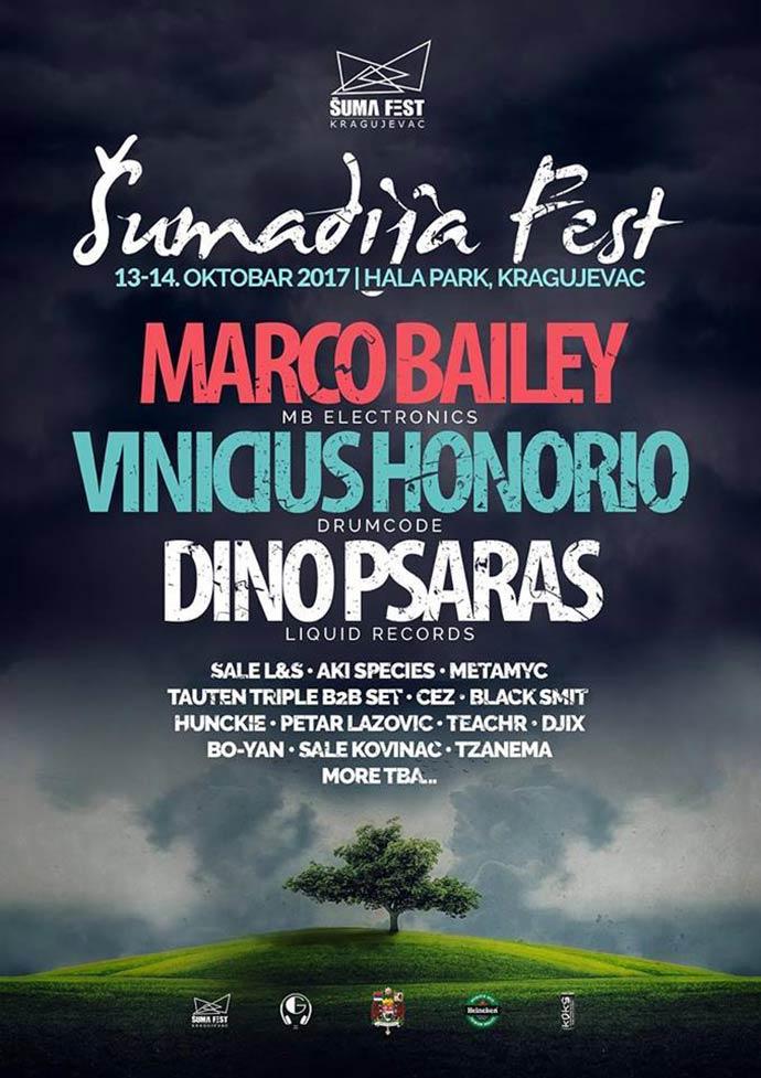 Sumadija Fest 2017 izvodjaci