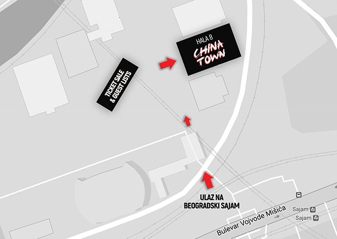 China Town 2017 Beogradski sajam mapa