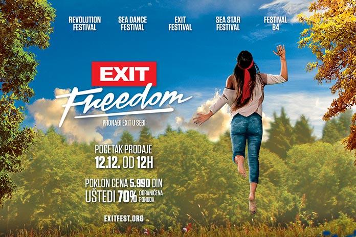 EXIT Freedom 2018 prodaja karata