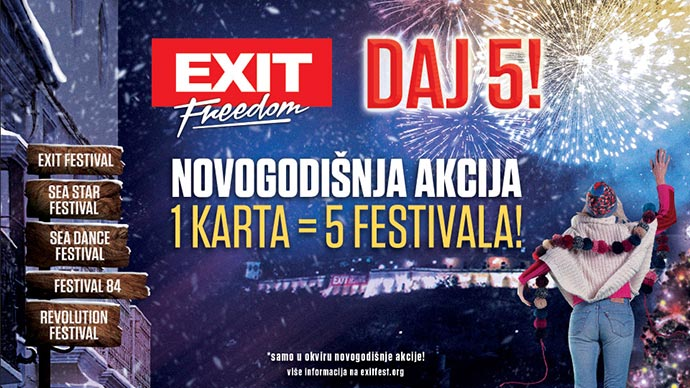 EXIT 2018 akcija karte