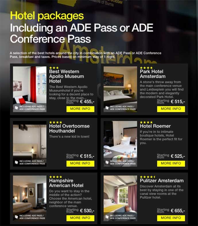ADE 2018 hotel