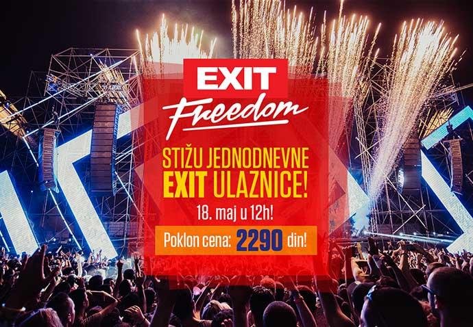 Jednodnevne ulaznice EXIT 2018
