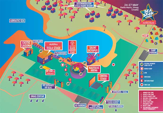 Sea Star festival 2018 mapa