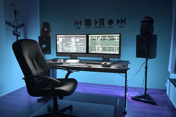 DJ studio music production