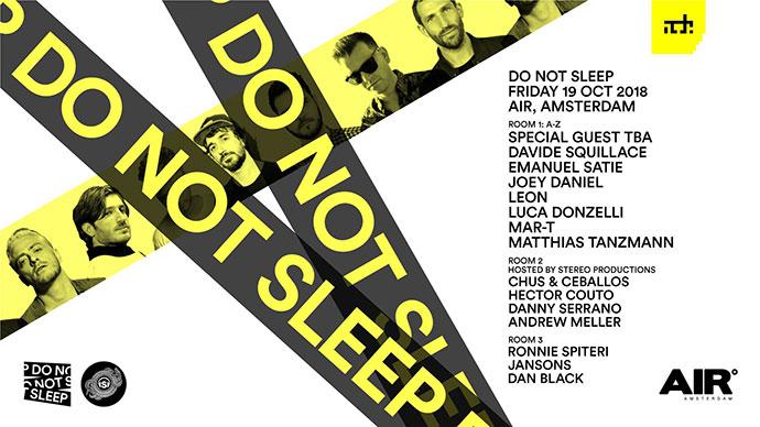 Andrew Meller Do Not Sleep Showcase ADE 2018