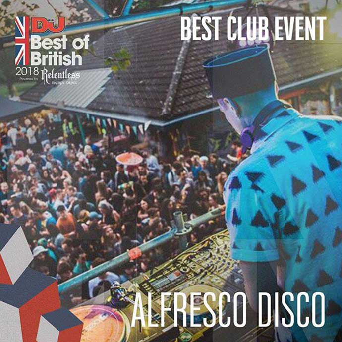 Alfresco Disco Best Club Event DJ Mag Best Of British Awards 2018