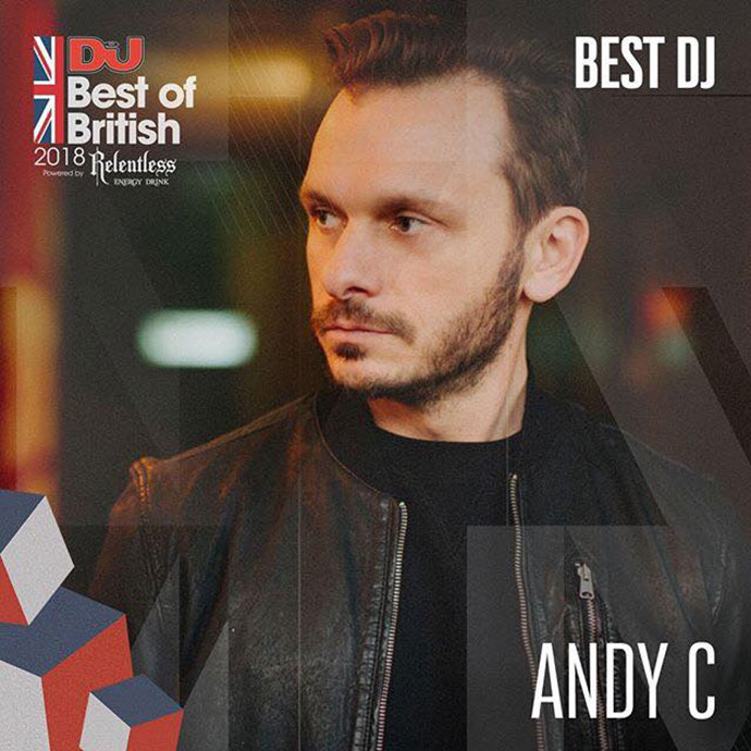 Andy C Best DJ DJ Mag Best Of British Awards 2018