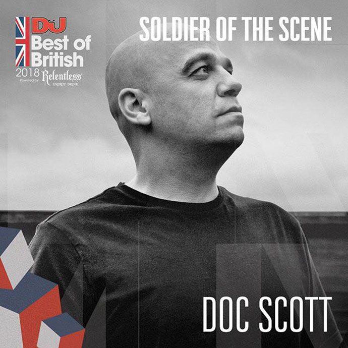 Doc Scott Soldier Of The Scene DJ Mag Best Of British Awards 2018