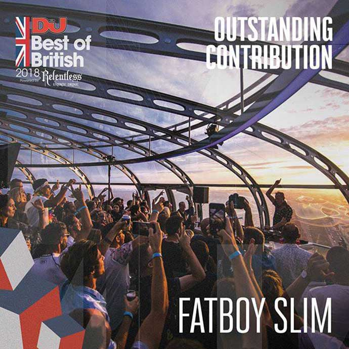 Fatboy Slim Outstanding Contribution DJ Mag Best Of British Awards 2018
