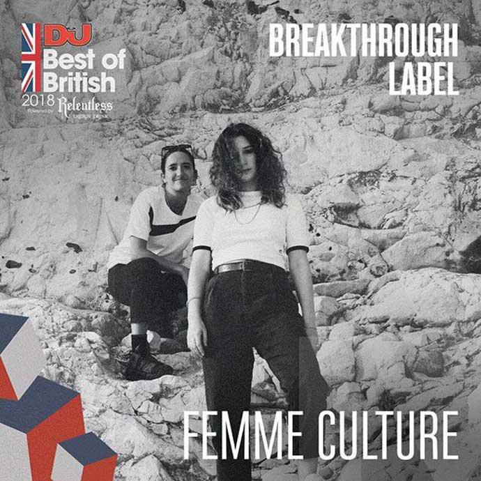 Femme Culture Breakthrough Label DJ Mag Best Of British Awards 2018