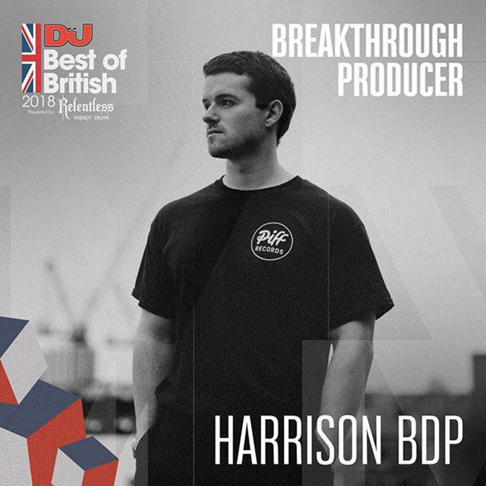 Harrison BDP Breakthrough Producer DJ Mag Best Of British Awards 2018