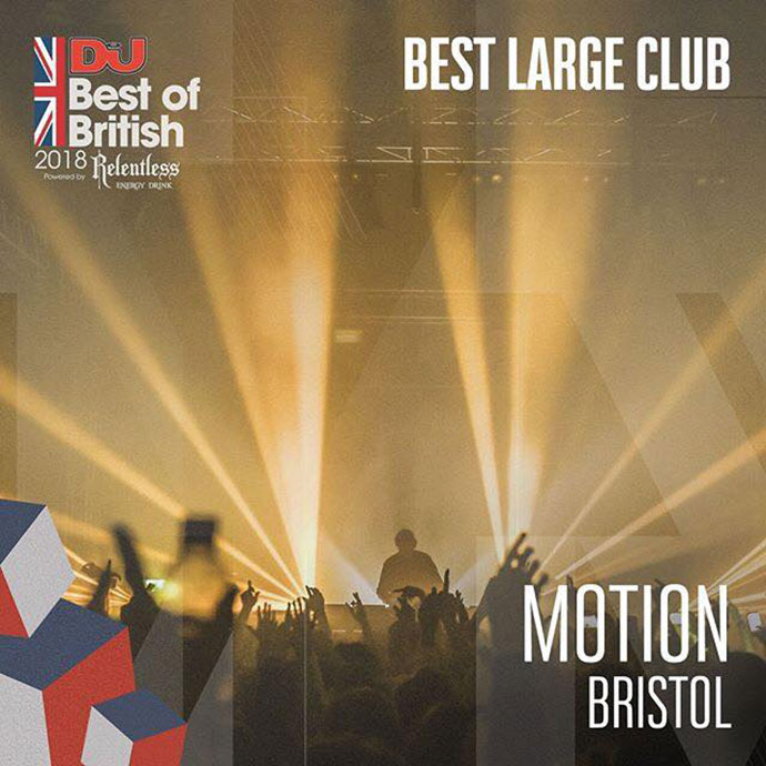 Motion Best Large Club DJ Mag Best Of British Awards 2018
