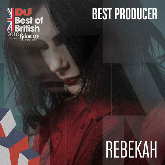 Rebekah Best Producer DJ Mag Best Of British Awards 2018