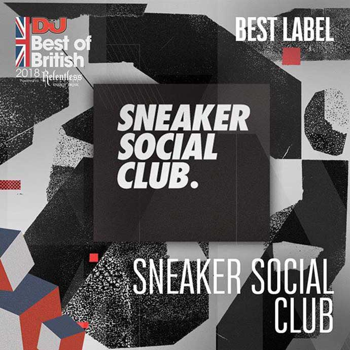 Sneaker Social Club Best Label DJ Mag Best Of British Awards 2018