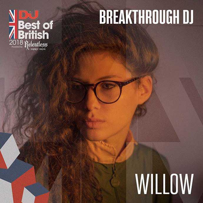 Willow Breakthrough DJ DJ Mag Best Of British Awards 2018