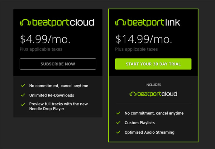 Beatport Cloud Link cene