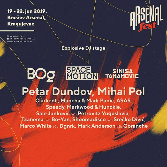 Explosive DJ Stage Arsenal Fest 2019 Line Up