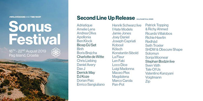 Sonus festival 2019 Line Up