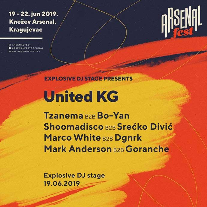 United KG Explosive DJ stage Arsenal Fest 2019