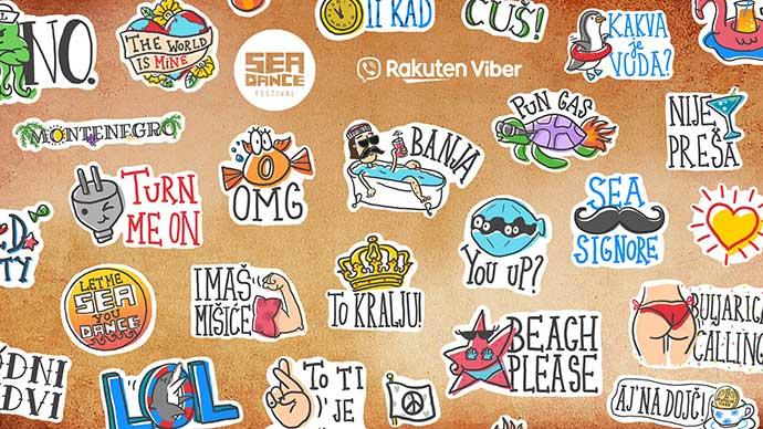 Viber sticker Sea Dance festival 2019