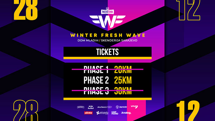 Winter Fresh Wave 2019 karte druga faza