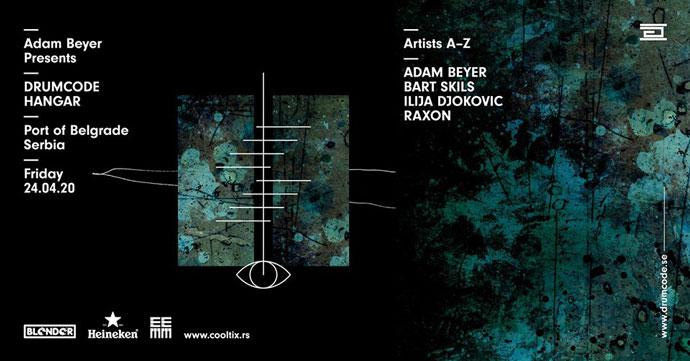 Adam Beyer Drumcode Belgrade Hangar
